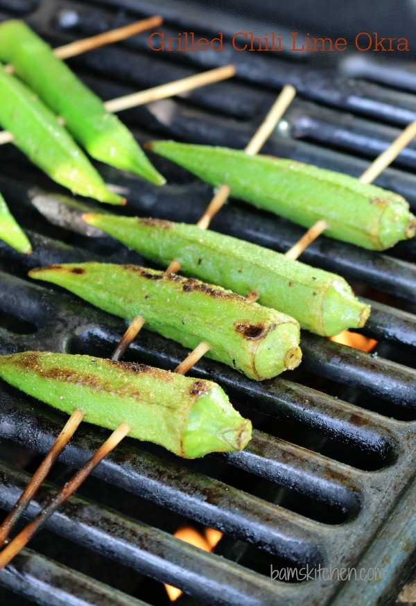 Grilled Chili Lime Okra / https://www.hwcmagazine.com