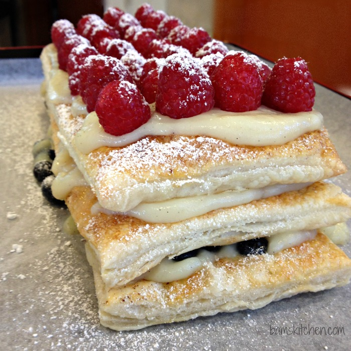 Berry and Peach Pudding Tart-Bam's Kitchen