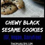 Chewy Black Sesame Cookies / https://www.hwcmagazine.com