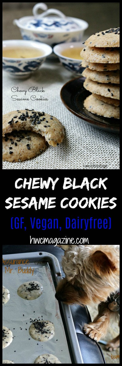 Chewy Black Sesame Cookies / https://www.hwcmagazine.com