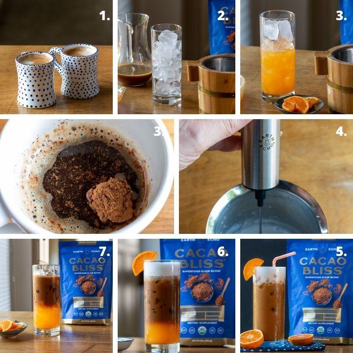 Step by step instruction on how to make an OJ Sunrise recipe.