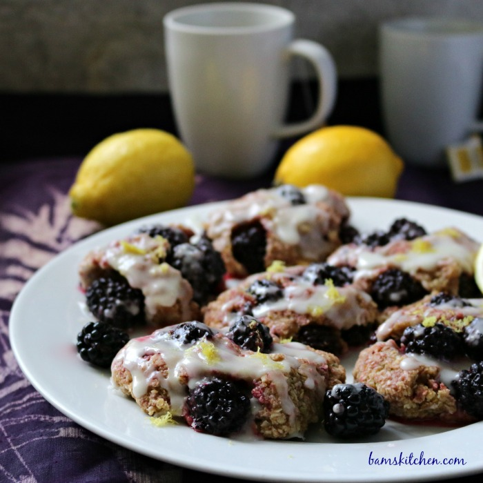 Blackberry Lemon Drop Biscuits-Bam's Kitchen.com