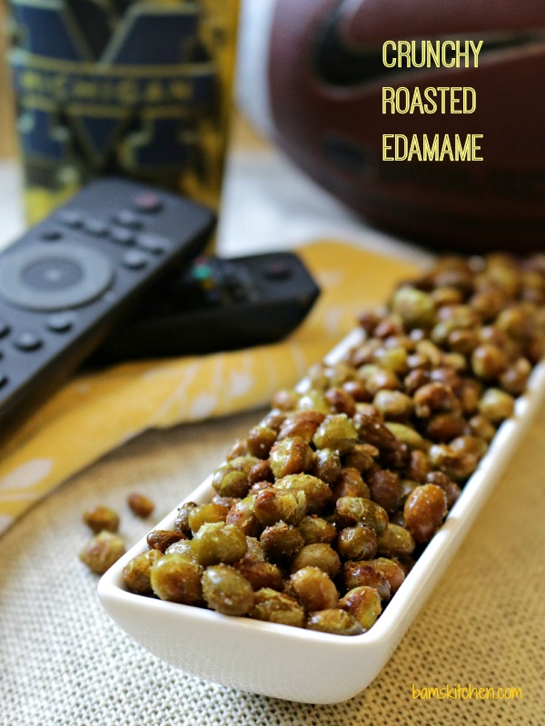 Crunchy Roasted Edamame-Healthy World Cuisine
