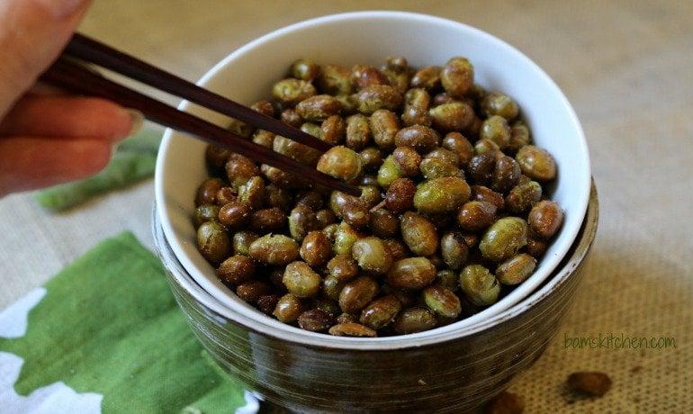 Crunchy Roasted Edamame- Healthy World Cuisine