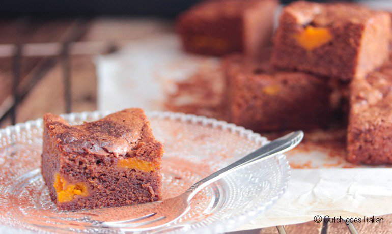Nutella and Pumpkin Brownies
