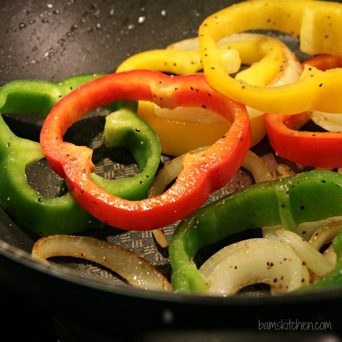 Chicken Fajitas Sliders-Bam's Kitchen