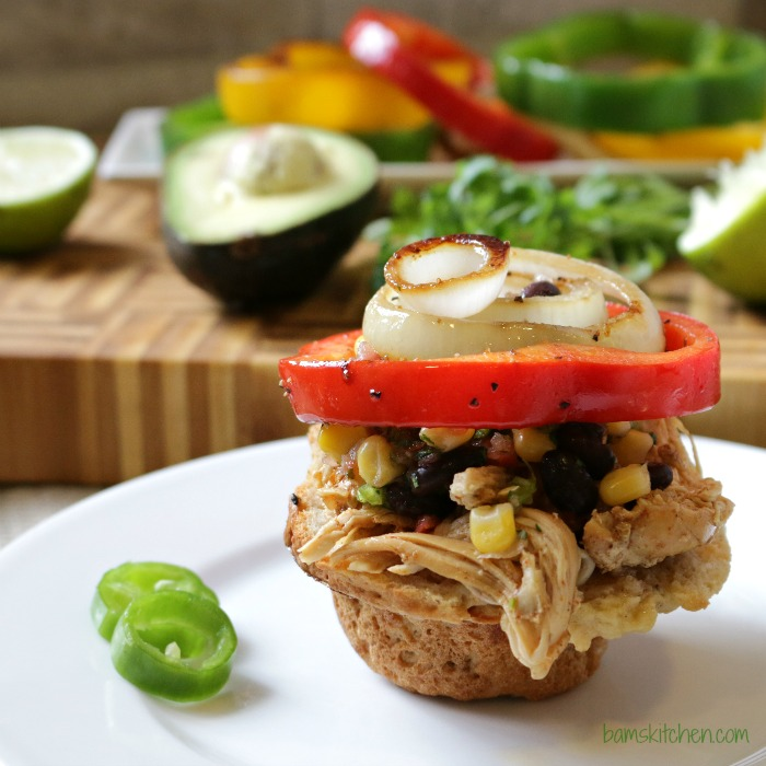 Chicken Fajitas Sliders-Healthy World Cuisine