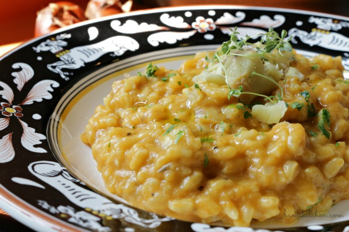 Roasted Chestnut Pumpkin Risotto- Healthy World Cuisine