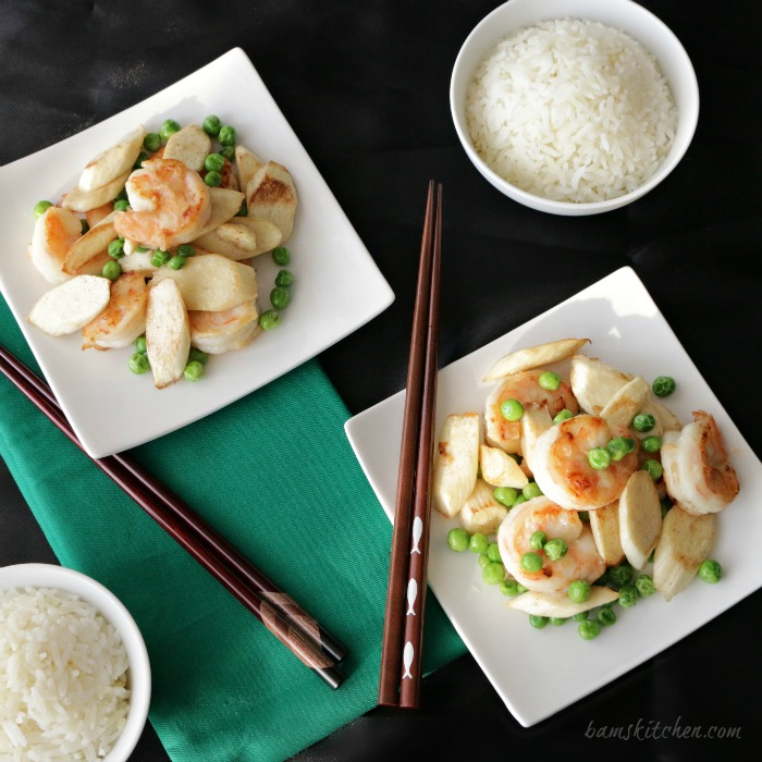 Shrimp and water bamboo-Healthy World Cuisine