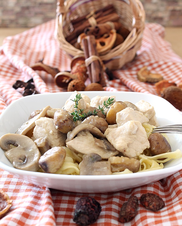 Chicken Breasts with Chestnuts and Mushrooms / https://www.hwcmagazine.com