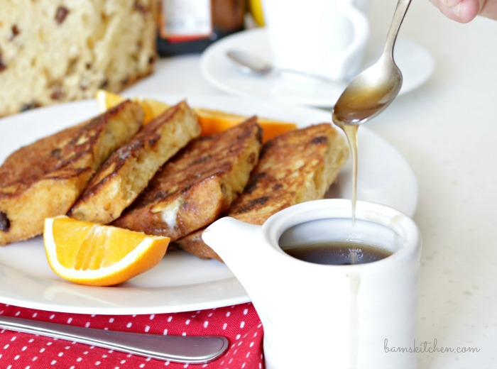 Panettone French Toast with Buttery Maple Cointreau Syrup ...