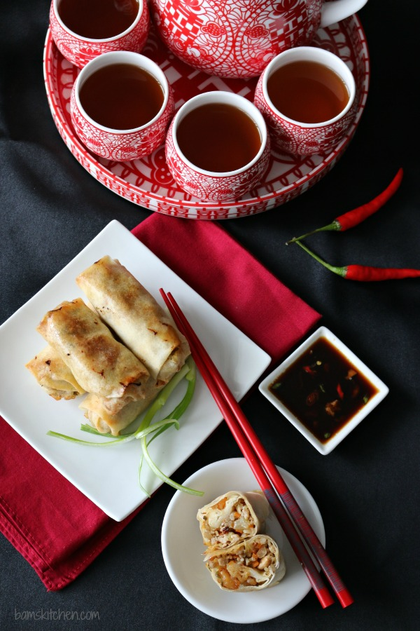 Baked Chinese Spring Rolls-Healthy World Cuisine