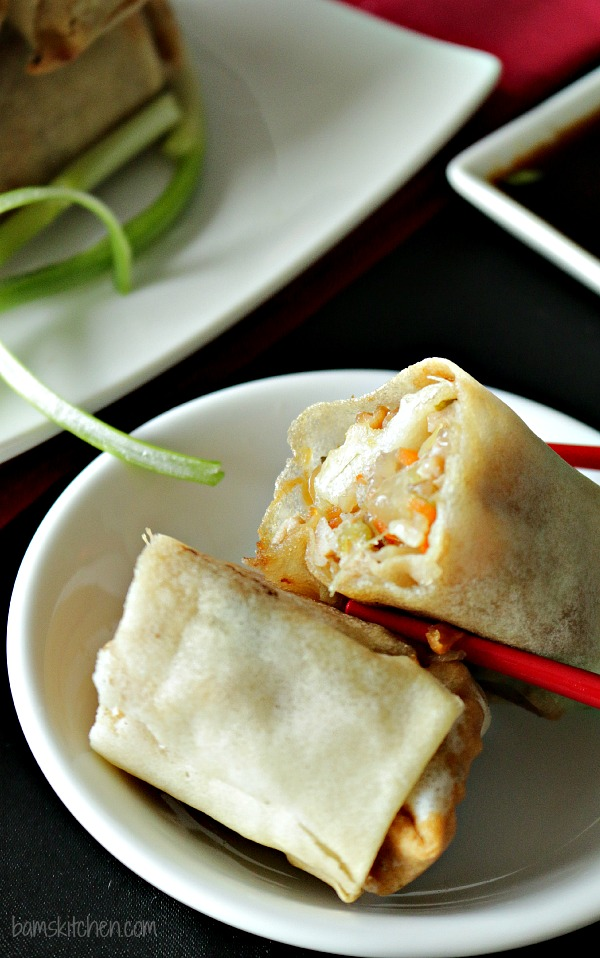 Baked Chinese Spring Rolls - Healthy World Cuisine