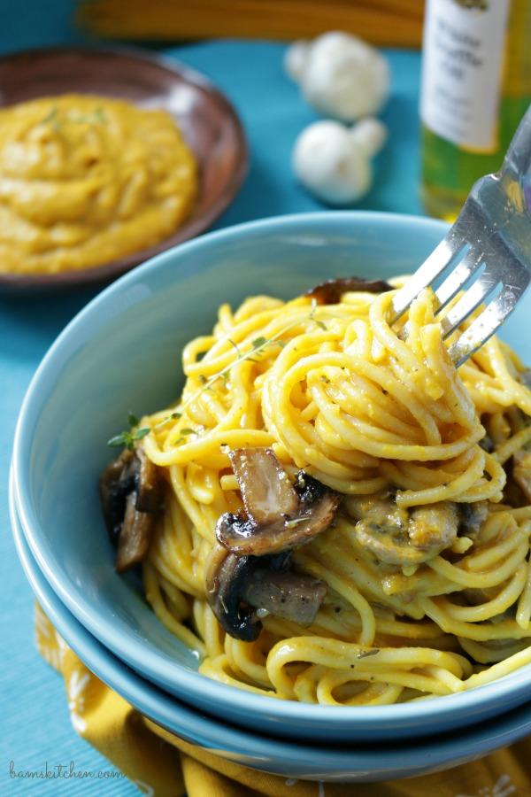Creamy Kabocha Truffle Pasta - Bam's Kitchen