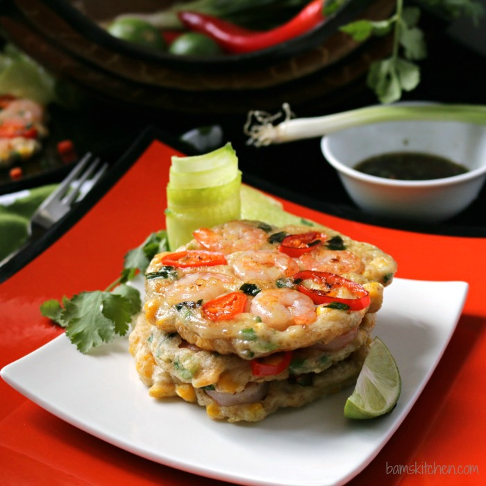 GF Thai Shrimp Pancakes - Bam's Kitchen