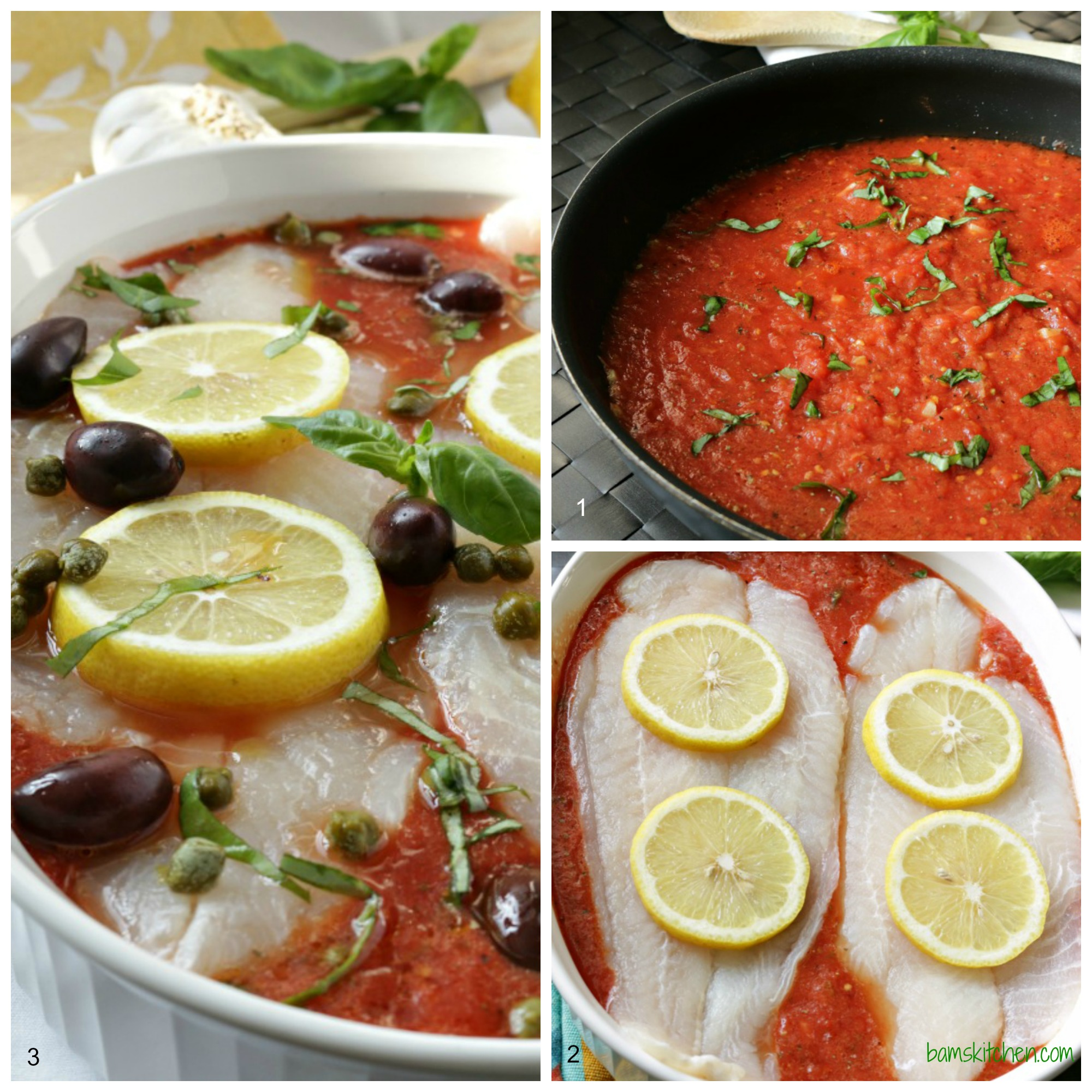 Healthy Mediterranean Baked Fish - Bam' s Kitchen