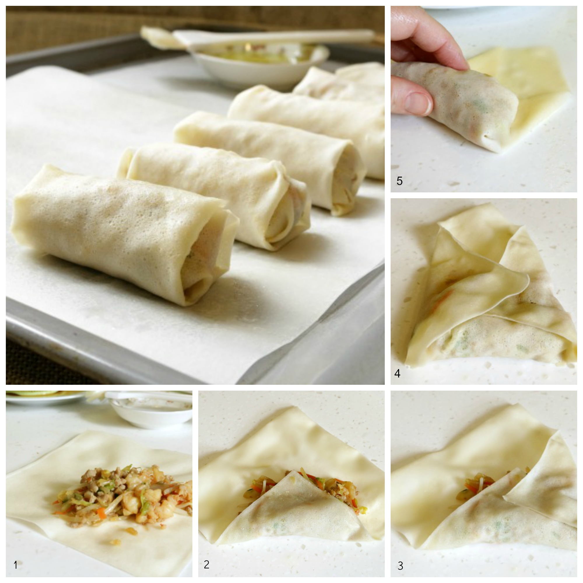 How to wrap spring rolls- Bam's Kitchen