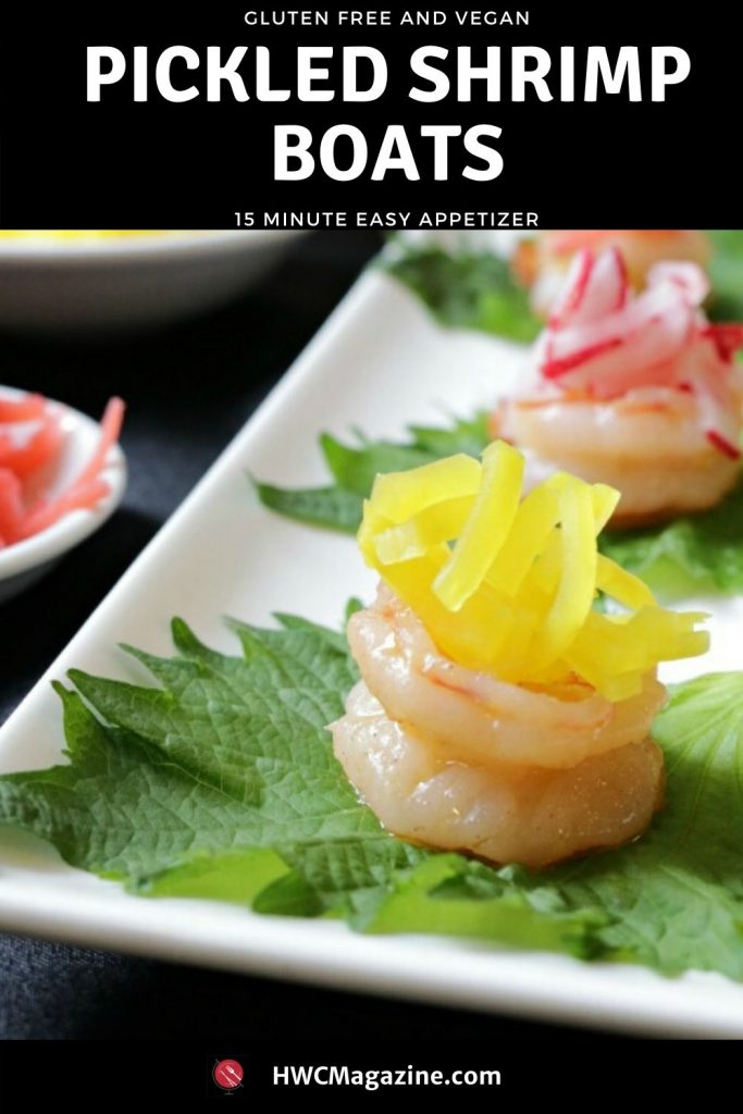 Shrimp Boats with Pickled Radish / https://www.hwcmagazine.com
