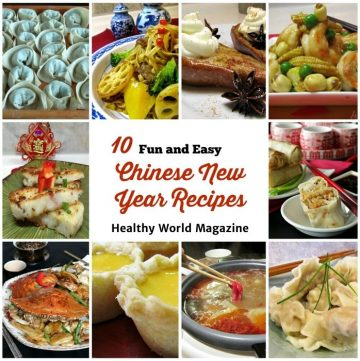 10 Fun and Easy Chinese New Year Recipes with dumplings, Chinese New Year Cakes and spring rolls.