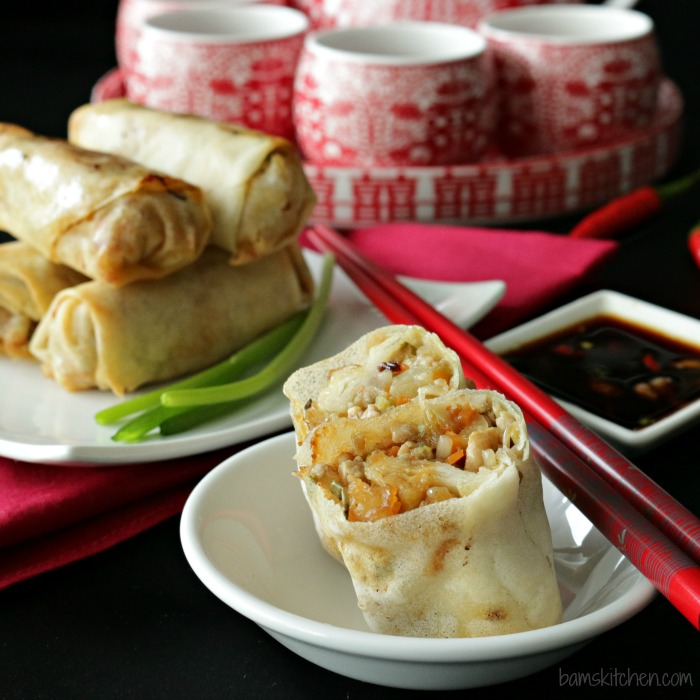 Baked Chinese Spring Rolls- Healthy World Cuisine