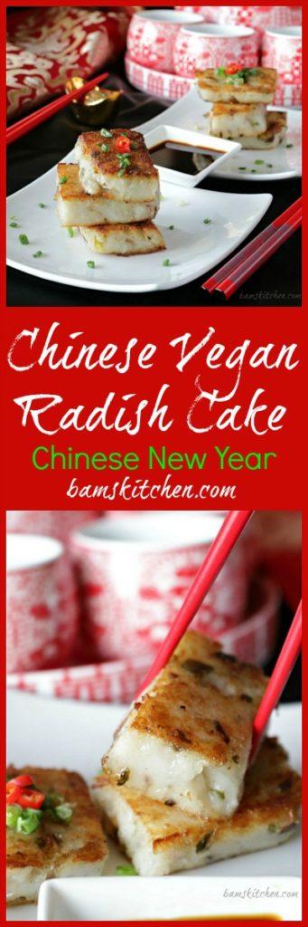 Chinese Vegan Radish Cake / https;//www.hwcmagazine.com