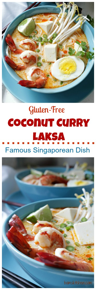 Gluten-Free Coconut Curry Laksa / http://bamskitchen.com