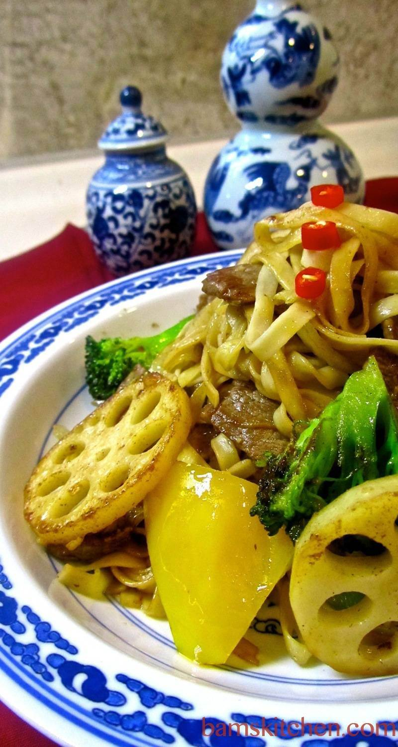 Spicy Beef and Longevity Noodles - Bam's Kitchen