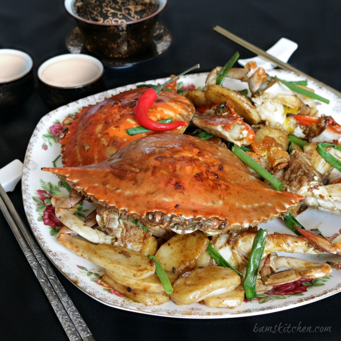 stir fried flower crab with chinese new year cake bams kitchen - Chinese New Year Cake