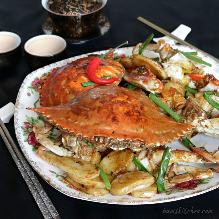 Stir Fried Flower Crab with Chinese New Year Cake - Healthy World Cuisine