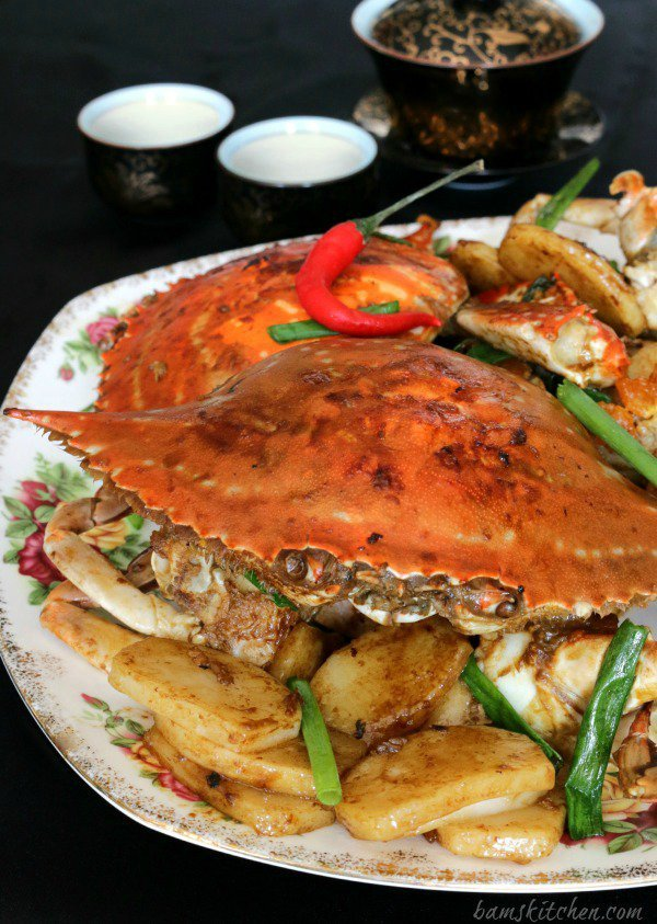Stir Fried Flower Crab with Chinese New Year Cake- Healthy World Cuisine