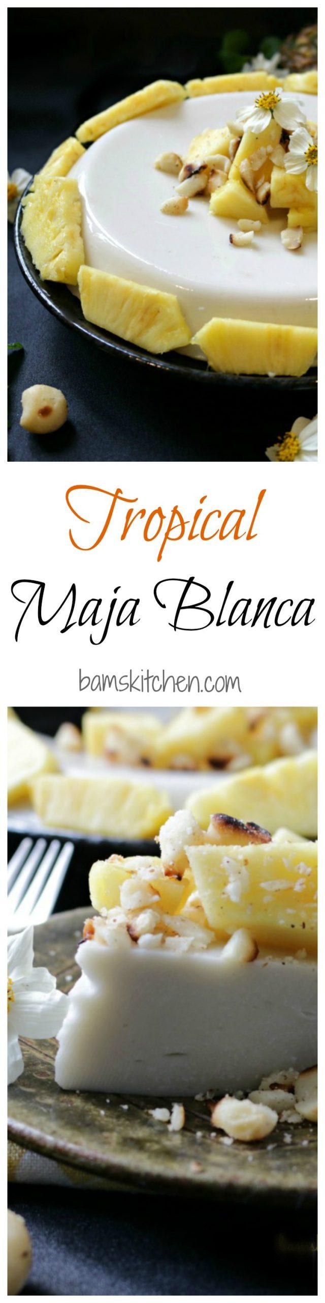 Tropical Maja Blanca / Bamskitchen.com