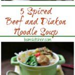 Five Spiced Beef Diakon Noodle Soup / https://www.hwcmagazine.com