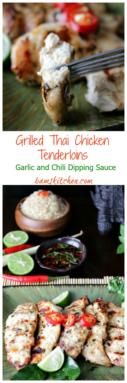 Grilled Thai Chicken Tenderloins / http://bamskitchen.com