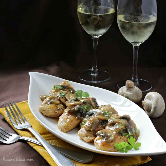 Mushroom Chicken with Brandy Sauce / https://www.hwcmagazine.com
