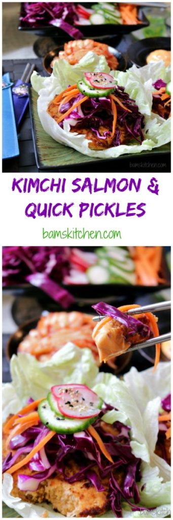 Kimchi Salmon and Rainbow Pickles / https://www.hwcmagazine.com