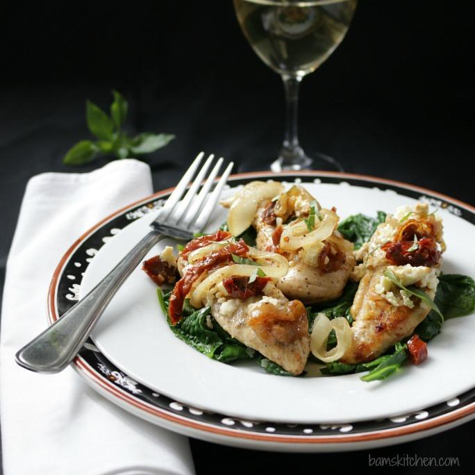 Feta and Sun Dried Tomato One Pot Chicken / http://bamskitchen.com
