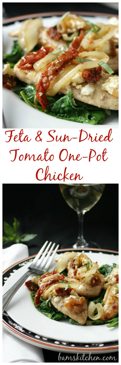 Feta and Sun-Dried Tomato One-Pot Chicken / http://bamskitchen.com