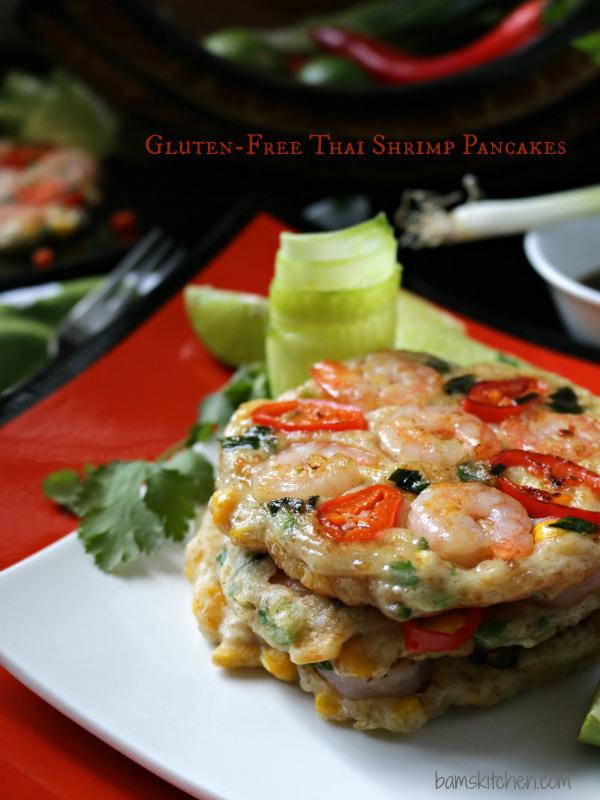 Gluten Free Thai Shrimp Pancakes / http://bamskitchen.com