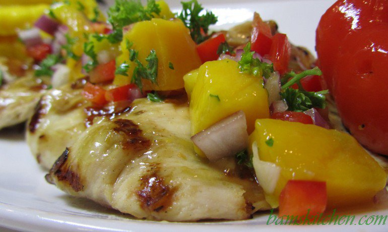 Tropical Spa Mango Chicken / http://bamskitchen.com