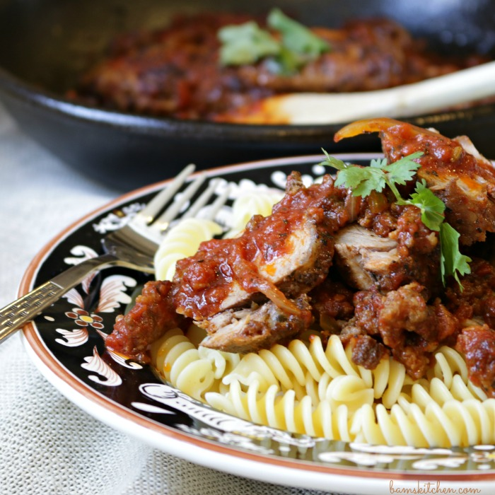 One Pot Paprika Pork/ http// bamskitchen.com