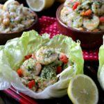 Parsley Lemon Pesto Shrimp Wraps / https://www.hwcmagazine.com