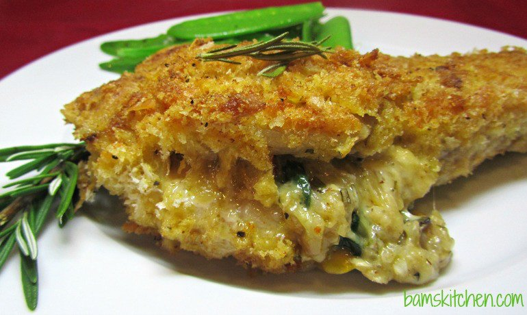 Shake and Bake Cheesy Stuffed Pork Chops / http://bamskitchen.com