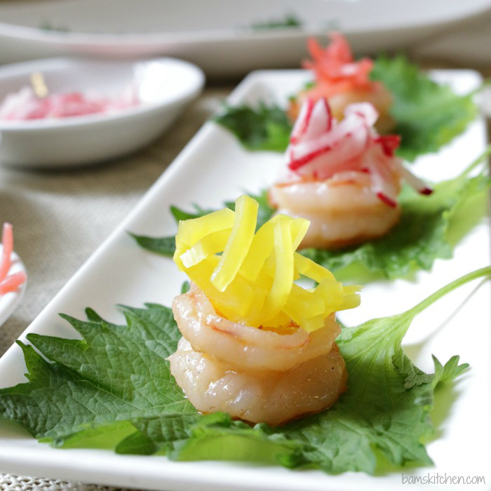 Shrimp Boats with Pickled Radish / http://bamskitchen.com