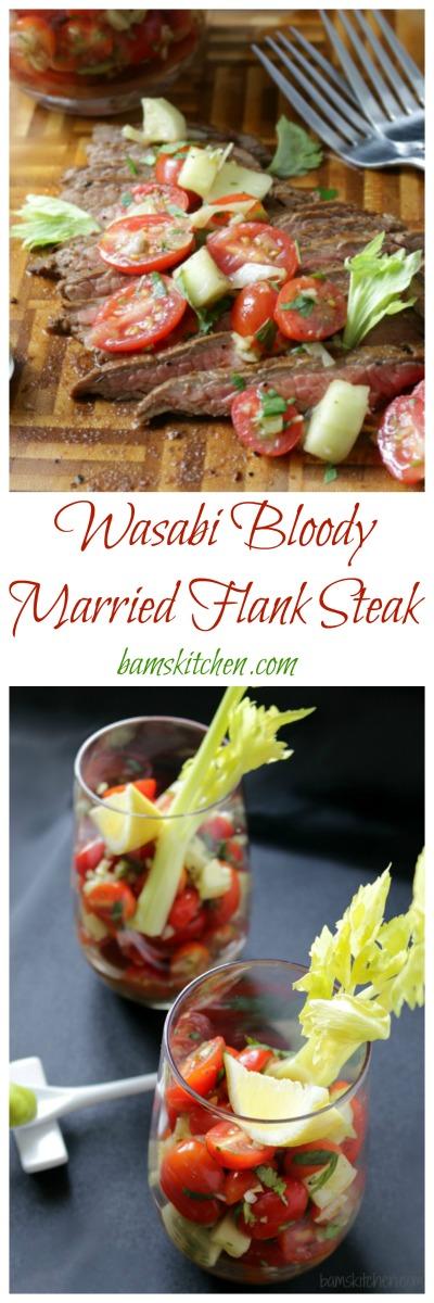 Bloodied Married Flank Steak / http://bamskitchen.com