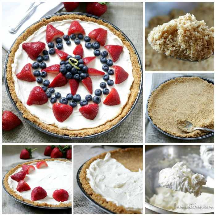 Step by Step how to make berry cheese cake.