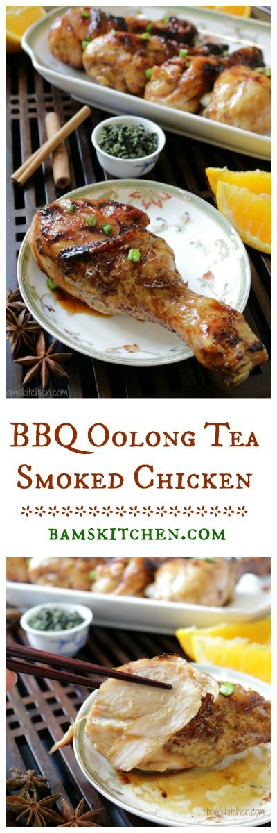 BBQ Oolong Tea Smoked Chicken / http://bamskitchen.com