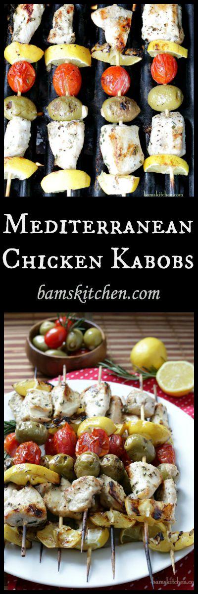 Mediterranean Chicken Kabobs / https://www.hwcmagazine.com