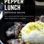 Copy Cat Pepper Lunch Japanese recipes with 2 sauces.