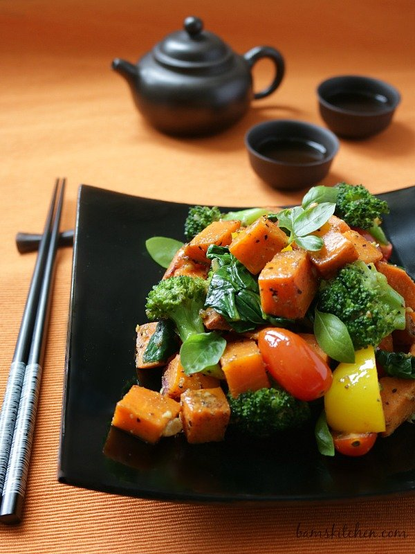 Spiced Yam and Vegetable Stir Fry / https://www.hwcmagazine.com