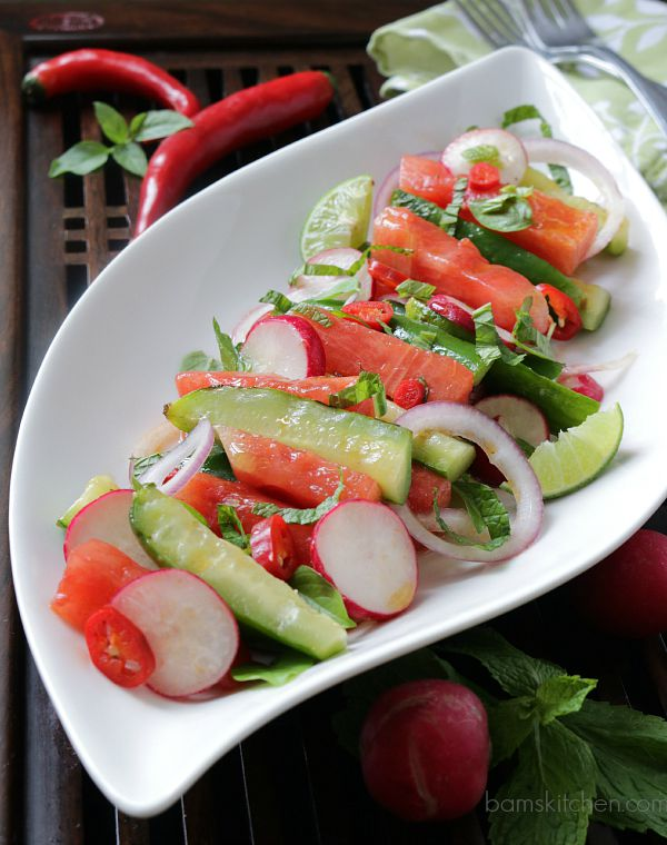 Thai Grilled Watermelon Salad / http://bamskitchen.com
